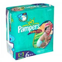 Pack d'une quantité de 33 Couches de la marque Pampers Baby Dry taille 6 sur 123 Couches
