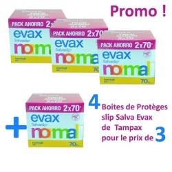 Pack 560 Protèges-Slips de Tampax Salva Evax - 4 au prix de 3 sur 123 Couches