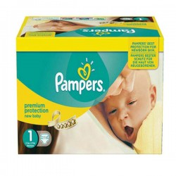 Pack économique 216 Couches Pampers New Baby taille 1 sur 123 Couches