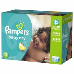 132 Couches Pampers Baby Dry taille 5 sur 123 Couches