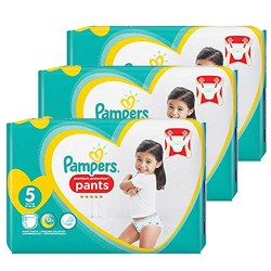 612 Couches Pampers Premium Protection Pants taille 5 sur 123 Couches