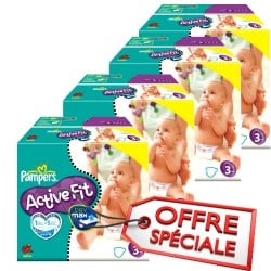 Giga pack 272 Couches Pampers Active Fit taille 3