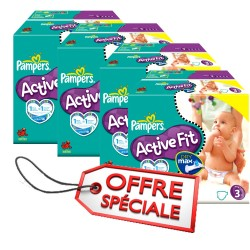 Maxi mega pack 476 Couches Pampers Active Fit taille 3