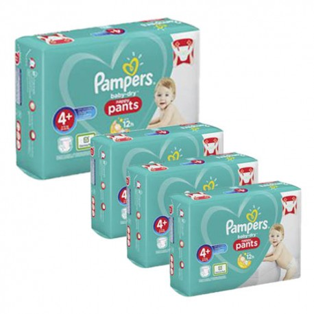Pack jumeaux 595 Couches Pampers Baby Dry Pants taille 4+ sur 123 Couches