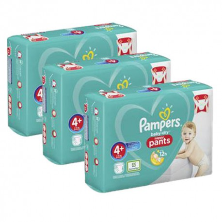 Maxi mega pack 490 Couches Pampers Baby Dry Pants taille 4+ sur 123 Couches