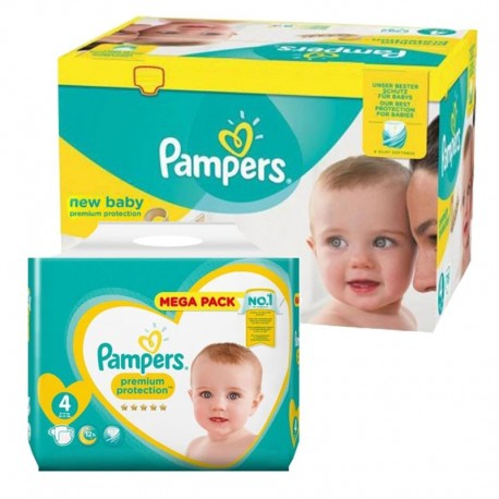 Pack jumeaux 768 Couches Pampers New Baby Premium Protection taille 4 sur 123 Couches