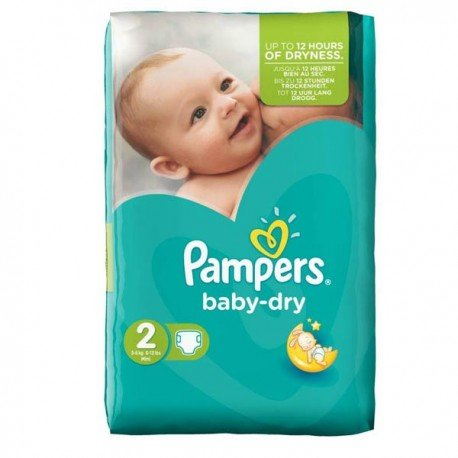 Couches Pampers Baby Dry Taille 2 à Petit Prix 44 Couches Sur