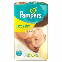Pack 27 Couches de Pampers New Baby Dry de taille 1 sur 123 Couches