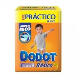 Maxi Pack d'une quantité de 126 Couches Dodot Basic de taille 6 sur 123 Couches