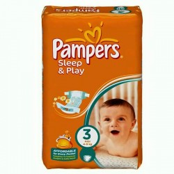 Pack 78 Couches Pampers Sleep & Play taille 3 sur 123 Couches