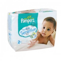 Pack 28 Couches de Pampers New Baby Sensitive taille 2 sur 123 Couches