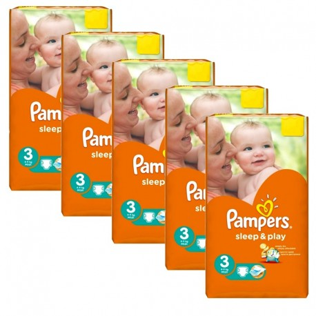 Pack jumeaux 546 Couches Pampers Sleep & Play taille 3 sur 123 Couches