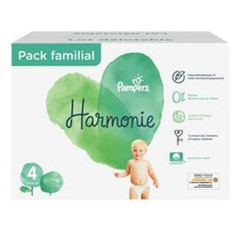 Maxi mega pack 420 Couches Pampers Harmonie taille 4 sur 123 Couches