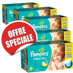 Giga pack 208 Couches Pampers Baby Dry taille 6