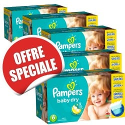Giga pack 208 Couches Pampers Baby Dry taille 6 sur 123 Couches