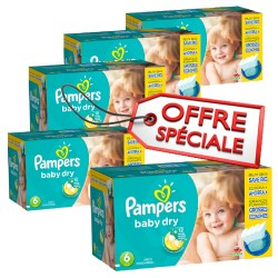 Maxi giga pack 312 Couches Pampers Baby Dry taille 6 sur 123 Couches