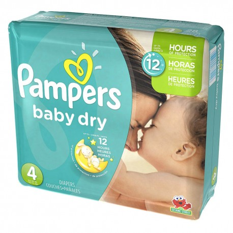 Maxi mega pack 468 Couches Pampers Baby Dry taille 4 sur 123 Couches