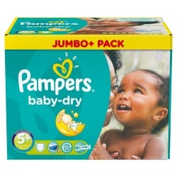 Pack 240 Couches Pampers Baby Dry taille 5+