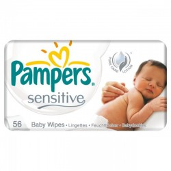 Pack 56 Lingettes Bébés Pampers Sensitive sur 123 Couches