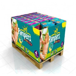 Pack 280 Couches de Pampers Baby Dry de taille 4 sur 123 Couches
