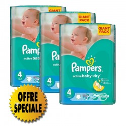 Mega pack 169 Couches Pampers Active Baby Dry taille 4 sur 123 Couches