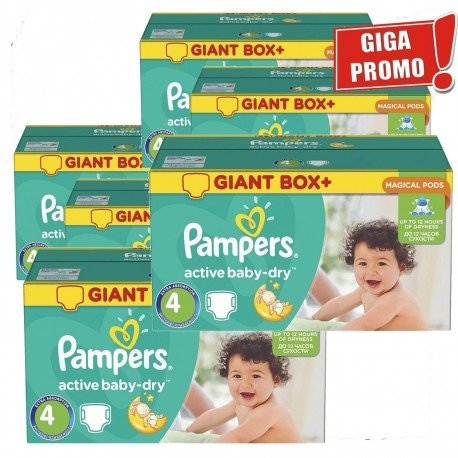 Giga pack 273 Couches Pampers Active Baby Dry taille 4 sur 123 Couches