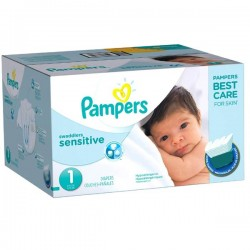 Maxi Pack de 230 Couches Pampers New Baby Sensitive taille 1