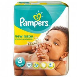 Pack 37 Couches Pampers de la gamme New Baby taille 3 sur 123 Couches
