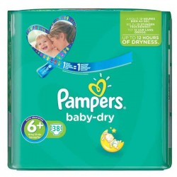 Pack 38 Couches Pampers Baby Dry taille 6+ sur 123 Couches