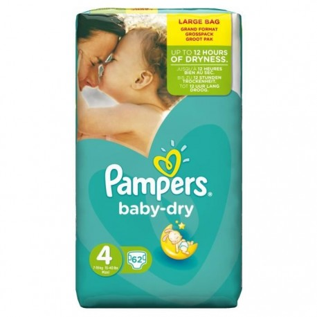 Couches Pampers Baby Dry Taille 4 En Promotion 62 Couches Sur