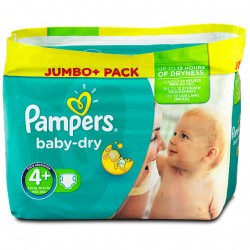 Mega Pack de 210 Couches Pampers Baby Dry taille 4+ sur 123 Couches