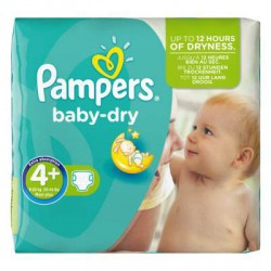 Pack de 56 Couches Pampers Baby Dry taille 4+