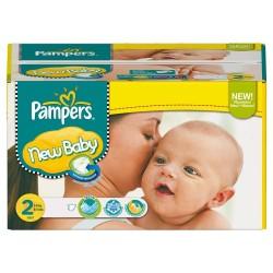 Pack d'une quantité de 80 Couches Pampers New Baby taille 2 sur 123 Couches