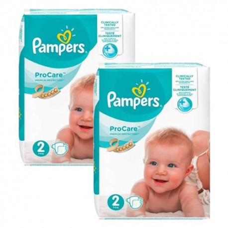 Maxi mega pack 468 Couches Pampers ProCare Premium protection taille 2 sur 123 Couches