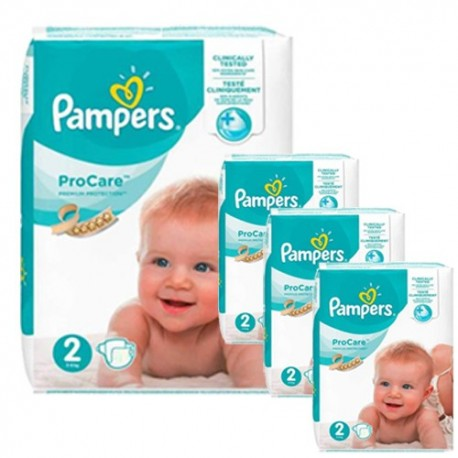 Pack jumeaux 612 Couches Pampers ProCare Premium protection taille 2 sur 123 Couches