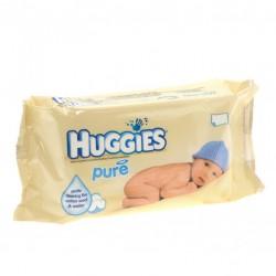Pack d'une quantité de 56 Lingettes Bébés Huggies Pure sur 123 Couches