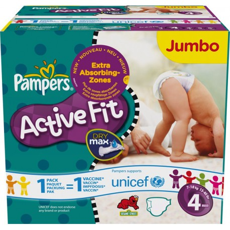 Pack 96 Couches Pampers Active Fit Pants taille 4 sur 123 Couches