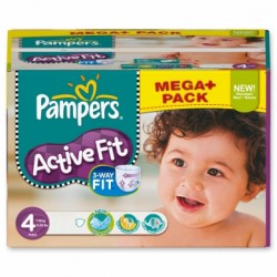 Mega pack 192 Couches Pampers Active Fit Pants taille 4