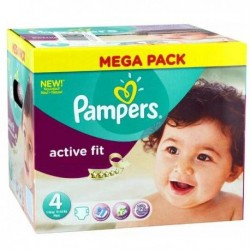 Giga pack 256 Couches Pampers Active Fit Pants taille 4