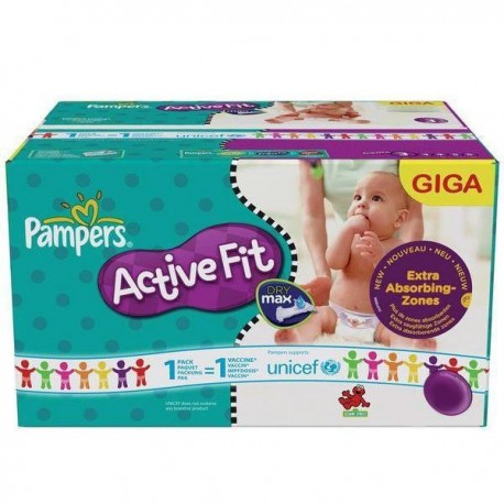 Maxi giga pack 352 Couches Pampers Active Fit Pants taille 4 sur 123 Couches