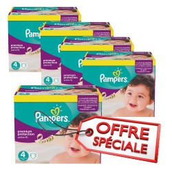 Pack jumeaux 512 Couches Pampers Active Fit Pants taille 4