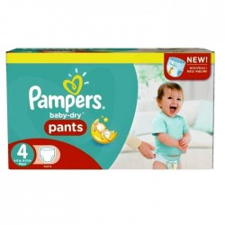Pack 92 Couches Pampers Baby Dry Pants taille 4 sur 123 Couches