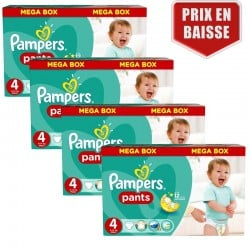 Pack jumeaux 529 Couches Pampers Baby Dry Pants taille 4