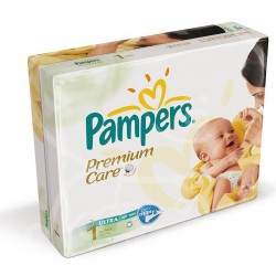 Pack 22 Couches Pampers Premium Care taille 1