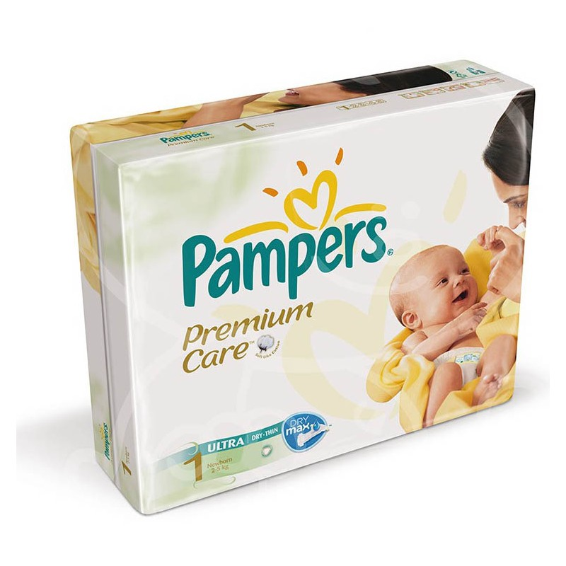 Couches pampers premium care taille 1 moins cher 22 couches sur 123 couches - Couche naissance pampers ...