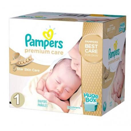 Giga Pack d'une quantité de 176 Couches de Pampers Premium Care taille 1 sur 123 Couches