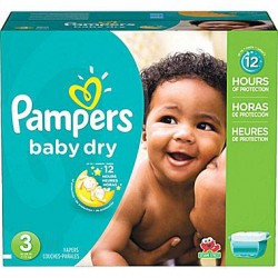 Giga Pack de 280 Couches Pampers de la gamme Baby Dry taille 3