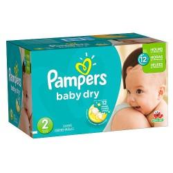 Pack économique 396 Couches de la marque Pampers Baby Dry taille 2