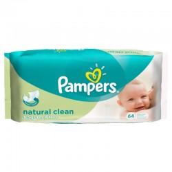 Pack de 64 Lingettes Bébés de la marque Pampers Natural Clean sur 123 Couches