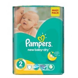 Pack 80 Couches de Pampers New Baby Dry taille 2